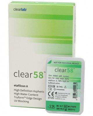 Линзы ежемесячной замены Clear 58