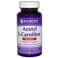 Ацетил-L-карнитин (Acetyl l-Carnitine) MRM 500 мг 60 капсул