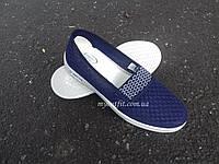Женские летние слипоны синие Размер 36 38 39 40 41