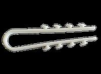 Дюбель елочка (зажим) для КРУГЛОГО кабеля/провода D до 8 мм 220тм