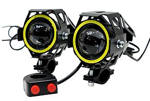 Галогенні лампи + вимикач Dual LED CREE U7D