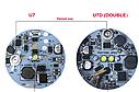 Галогенные лампы + выключатель Dual LED CREE U7D, фото 5