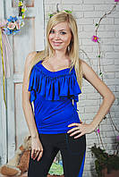 Майка женская синяя