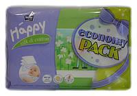 Влажные салфетки для детей Bella Baby Happy silk & cotton (economy pack) - 2 x 64шт.