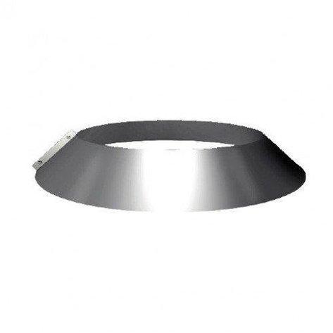Декоративная заглушка для трубы,  оцинкованная, d 130 мм