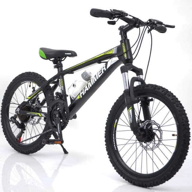 фото велосипед 20 для детей от 8-х лет черно-зеленый