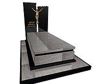 Елітний одинарний пам'ятник з світлого граніту S801