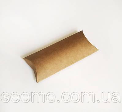 Коробка-подушка из крафт картона, 125х63х20 мм