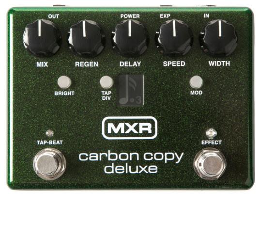 Підлоговий аналоговий педаль ефектів для електрогітар DUNLOP M292 MXR Carbon Copy Deluxe Analog Delay