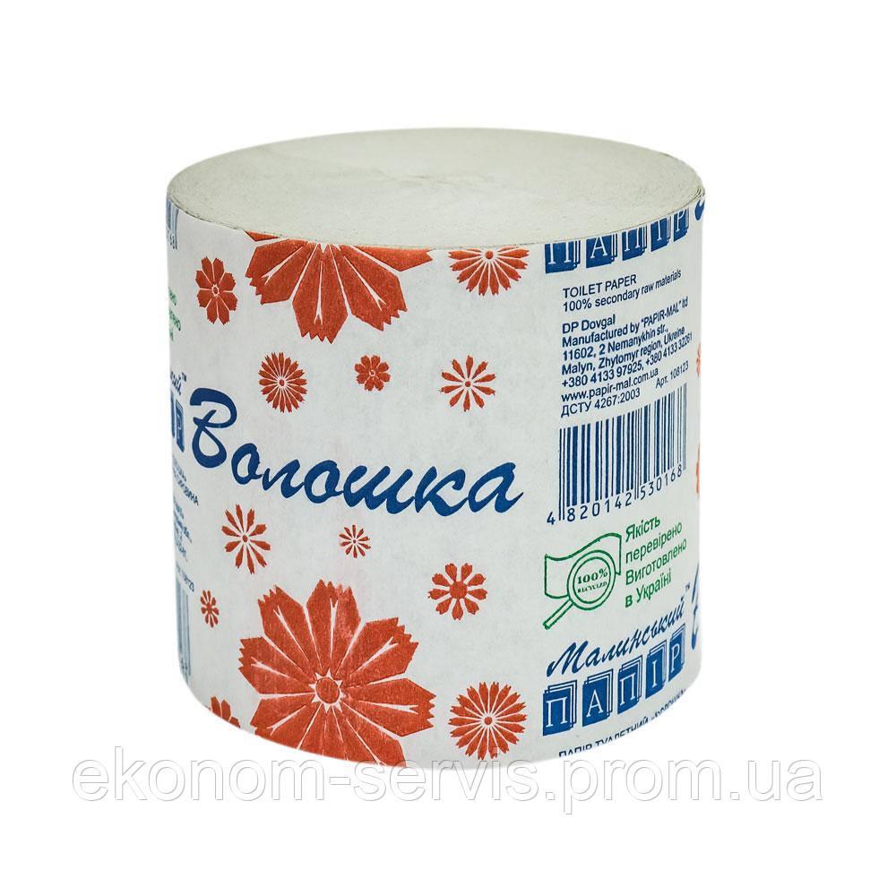 Туалетная бумага Малинская бумага Волошка 1 слой, 45м