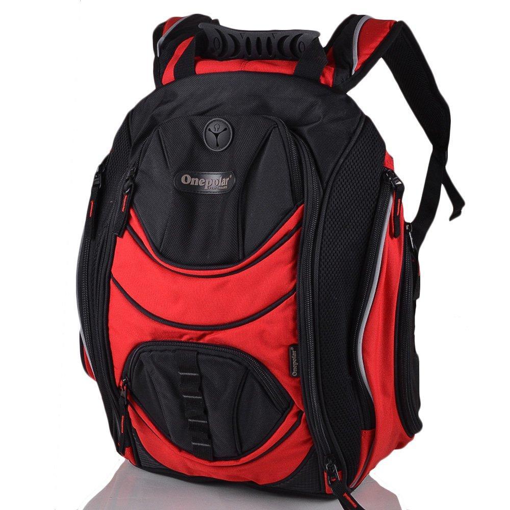 Рюкзак для ноутбука 14 ONEPOLAR (ВАНПОЛАР) W1284-red