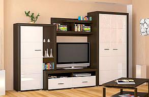"""Стенка со шкафом для одежды """"Неон-2"""" от Мебель Сервис 3,4м"""