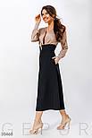 Длинная нарядная юбку с завышенной талией черная, фото 2