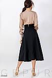 Длинная нарядная юбку с завышенной талией черная, фото 3
