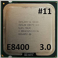Процессор ЛОТ#11 Intel® Core™2 Duo E8400 SLB9J 3.00GHz 6M Cache 1333 MHz FSB Socket 775 Б/У, фото 1