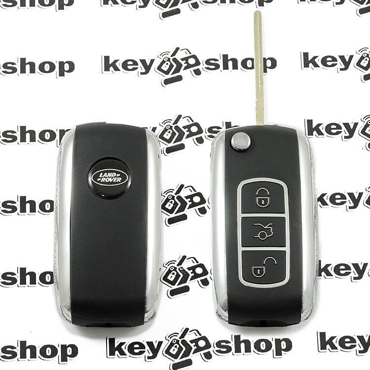 Оригинальный выкидной ключ для LAND ROVER (Ленд Ровер), 3 - кнопки, лезвие HU101, ID 44 / 433 Mhz