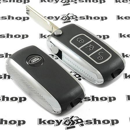 Оригинальный выкидной ключ для LAND ROVER (Ленд Ровер), 3 - кнопки, лезвие HU101, ID 44 / 433 Mhz, фото 2