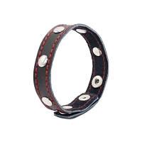Эрекционное кожаное кольцо BDSM (на кнопках) 1,6см х 21,0см, фото 1