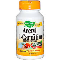 Ацетил-L-карнитин Nature's Way 500 мг 60 капсул