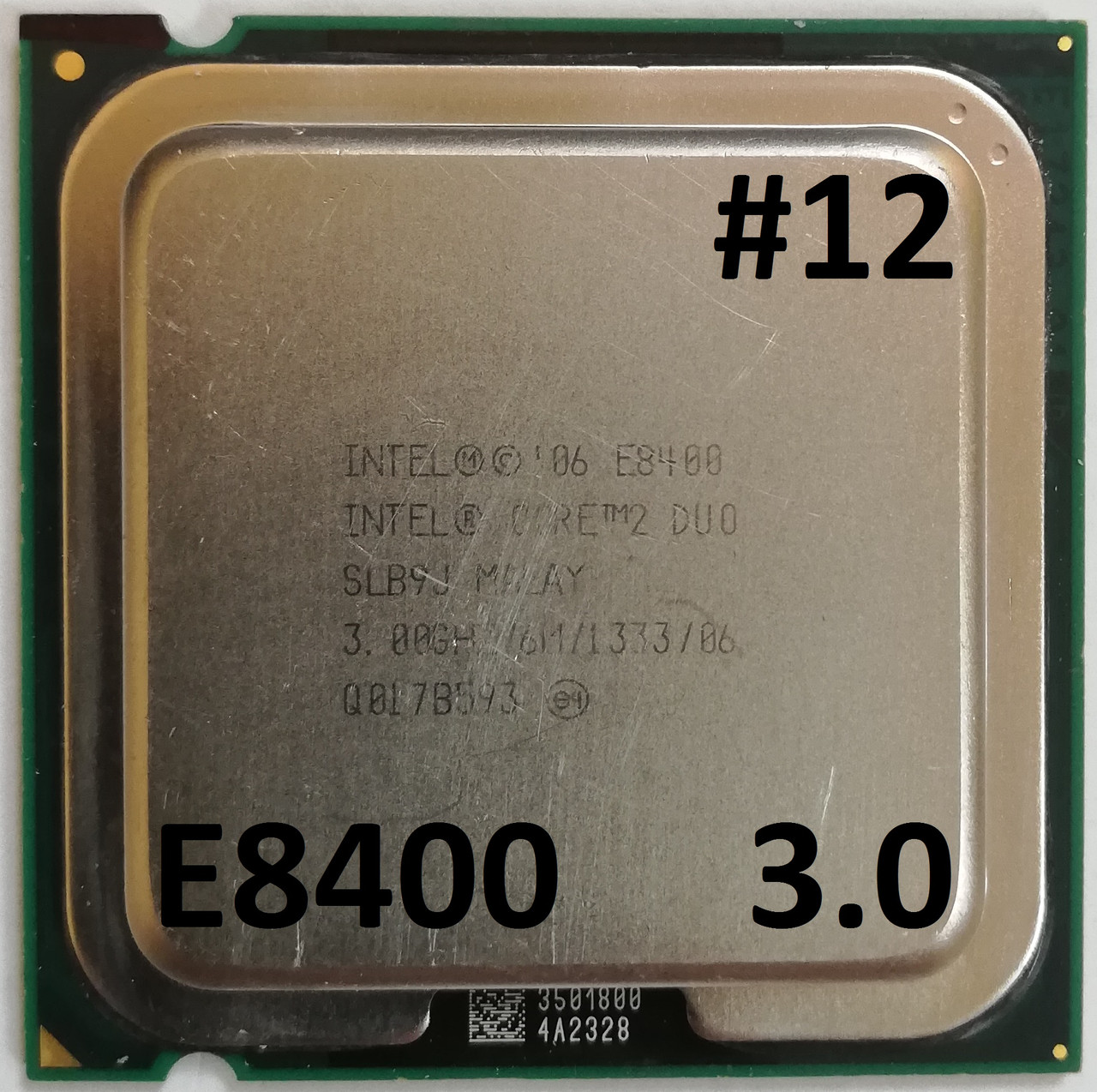 Процессор ЛОТ#12 Intel® Core™2 Duo E8400 SLB9J 3.00GHz 6M Cache 1333 MHz FSB Socket 775 Б/У