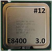 Процессор ЛОТ#12 Intel® Core™2 Duo E8400 SLB9J 3.00GHz 6M Cache 1333 MHz FSB Socket 775 Б/У, фото 1