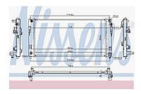 Радиатор охлаждения +/- AC NISSENS Nissan Leaf ZE0 (10-13) 21410-3NA0A