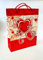 Бумажный подарочный пакет 23х30х8см / уп-12шт