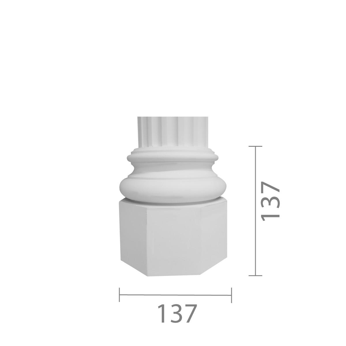 База колони з гіпсу, гіпсова база, основа для колони б-3 (1/2)