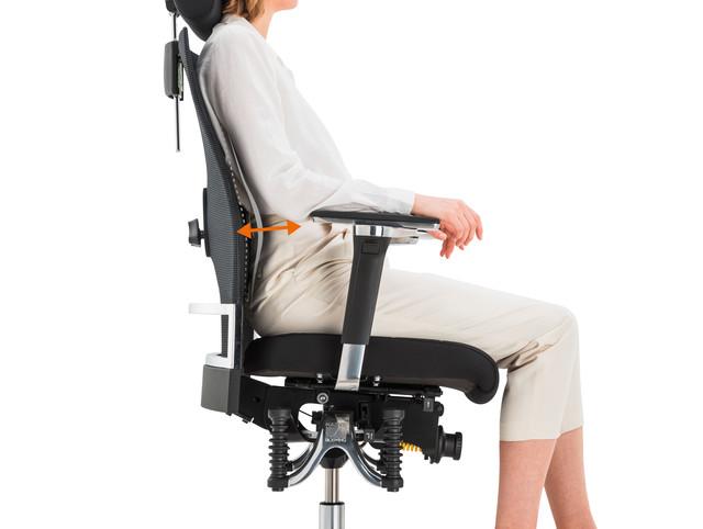 регулировка поясничной поддержки кресла