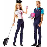 Набор кукол Barbie Барби и Кен Пилоты Pink Passport Gift Set