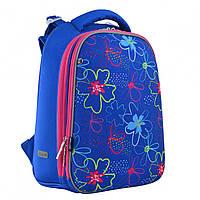 """Рюкзак каркасний H-12 """"Vivid flowers"""" 1Вересня, 556038"""