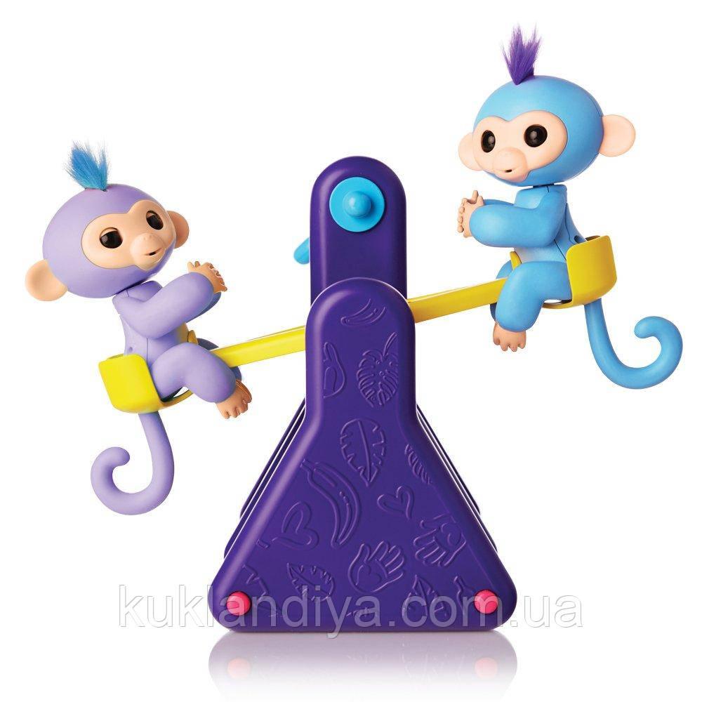 Fingerlings Baby Monkey інтерактивні мавпочки Фингерлингс Мавпочка Бебі на гойдалки