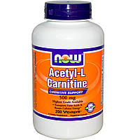 Ацетил-L-карнитин (Acetyl l-Carnitine) Now Foods 500 мг 200 капсул