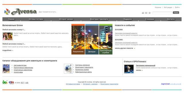 Сайт компании Avensa 55