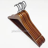 Деревянные вешалки для одежды коричневого цвета, длина 450 мм, 6 штук