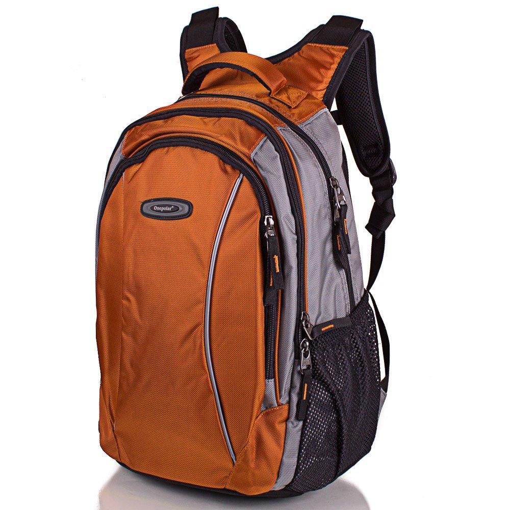 Рюкзак городской Onepolar Мужской рюкзак ONEPOLAR (ВАНПОЛАР) W1371-orange