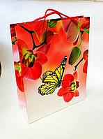 Бумажный подарочный пакет 28х34х8.5см / уп-12шт