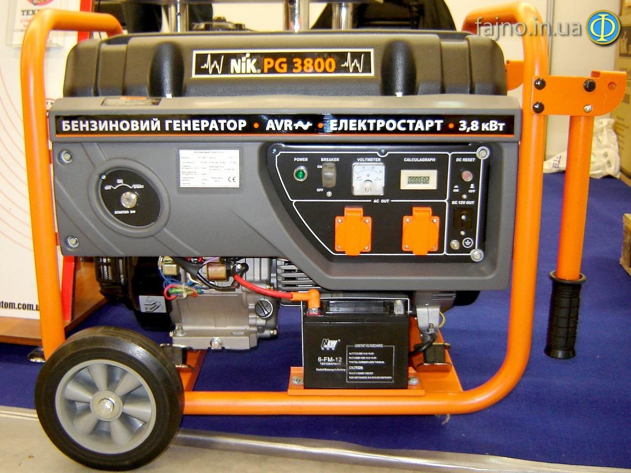 Бензиновый генератор NiK PG 3800 (3,2 кВт, стартер)