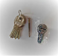 Цилиндр (серцевина) дверного замка ключ-ключ Cometa 80 мм (40*40)  5 лазерных ключей