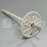 Дюбель крепления теплоизоляции 10х180мм,  металлический гвоздь и термозаглушка (Премиум), фото 1