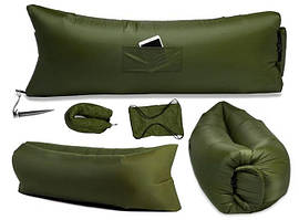 Надувной диван ламзак, Lamzac цвета хаки Oxford PU 240d