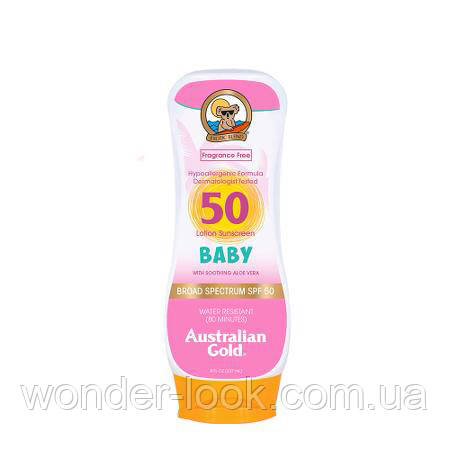 Детский солнцезащитный лосьон Australian Gold Baby Sunscreen Lotion SPF 50