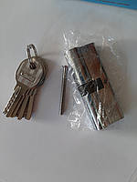 "Личинка дверного замка ""ключ-ключ"" Cometa 90 мм (45*45) 5 лазерних ключів"