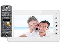 Комплект видеодомофон 7-дюймов Qualvision QV-IDS4734 WHITE / QV-ODS416B