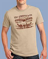 0011-TSRA-150-SA    Мужская футболка «LEVI STRAUSS & CO.» Песочная