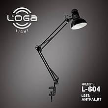 """Лампа настільна зі струбциною """"Антрацит"""" L-604 (ТМ LOGA Light)"""