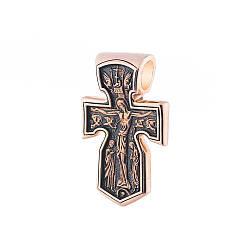Золотой крестик с чернением п02534