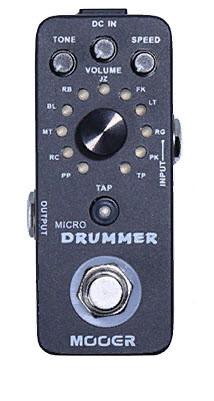 MOOER MICRO DRUMMER Компактна драм машина в форматі гітарної педалі