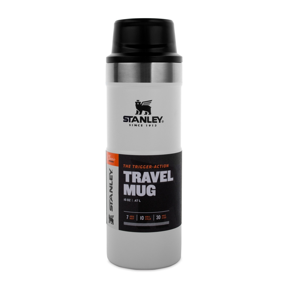 Термокружка Stanley Classic Trigger - action 470 ml. TRAVEL MUG POLAR (10-06439-032)