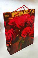 Подарунковий паперовий пакет 31.5х40х9см / уп-12шт